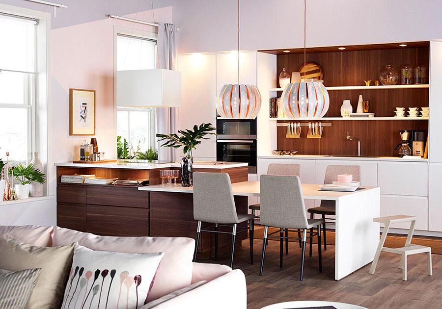 Modello di cucina con isola Ikea n.09