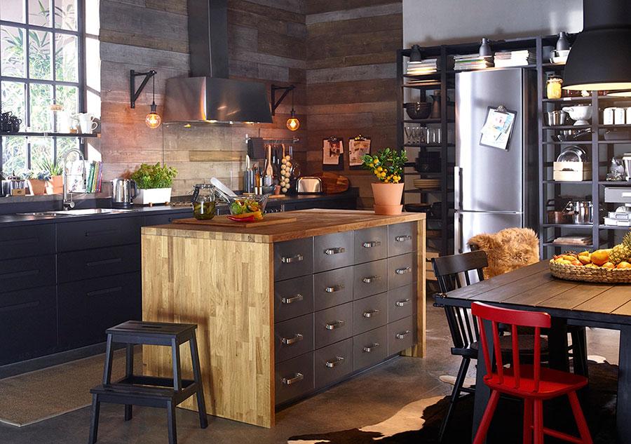 Modello di cucina con isola Ikea n.10