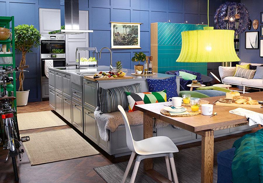 Modello di cucina con isola Ikea n.11
