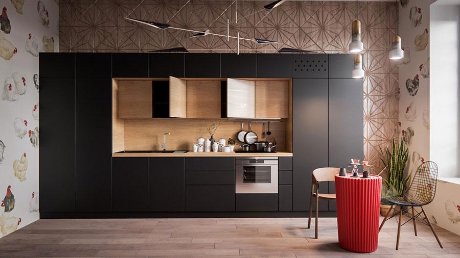 Modello di cucina lineare n.01
