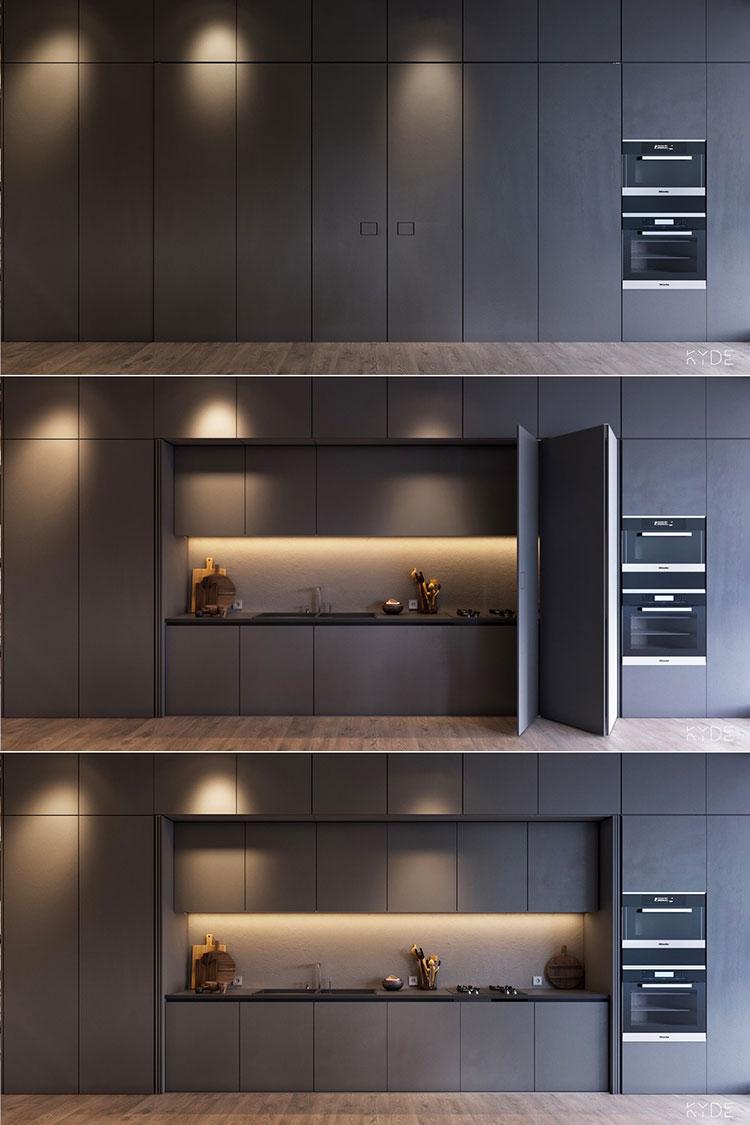 Modello di cucina lineare n.02