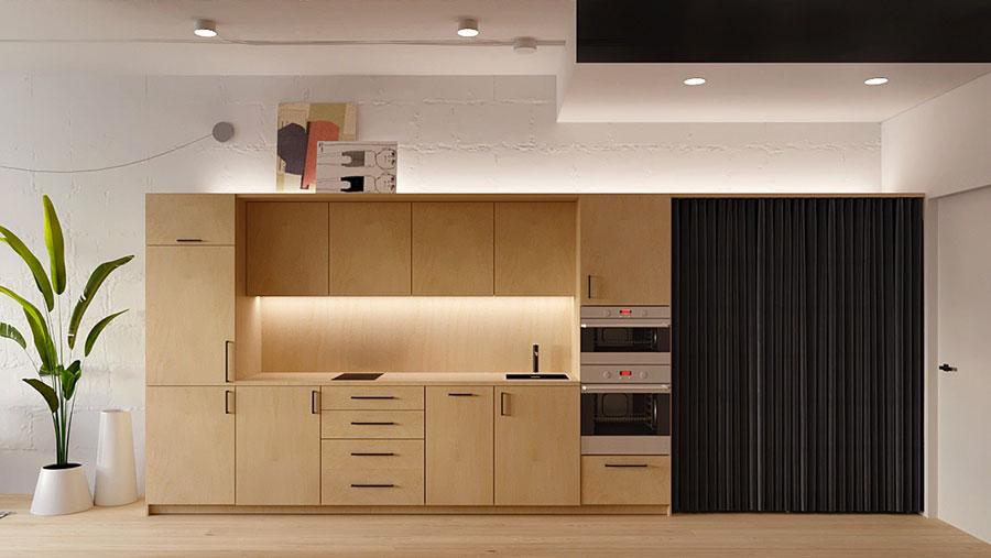 Modello di cucina lineare n.03