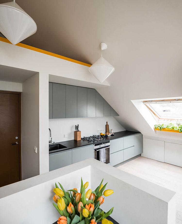 Modello di cucina lineare n.05