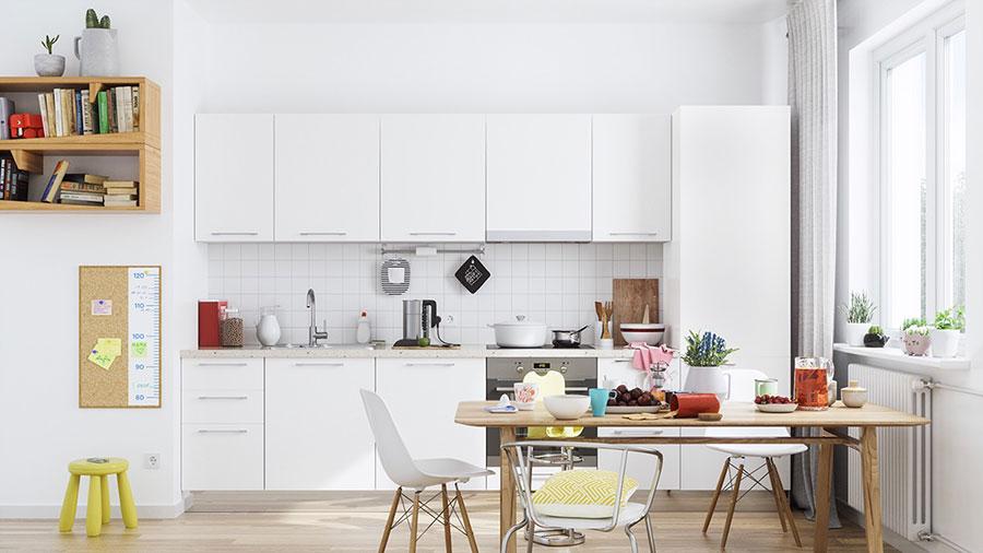 Modello di cucina lineare n.09