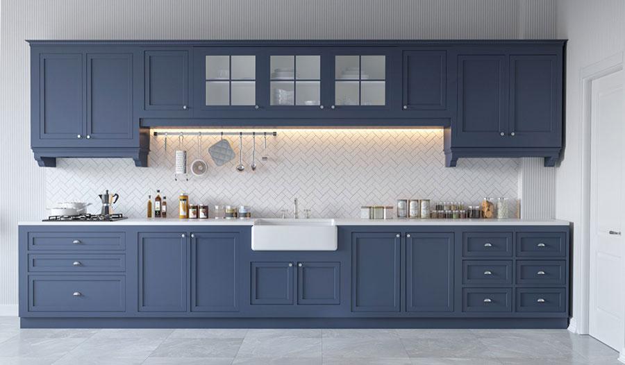 Modello di cucina lineare n.10