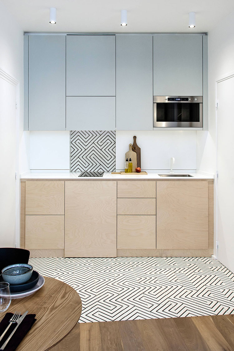 Modello di cucina lineare n.13