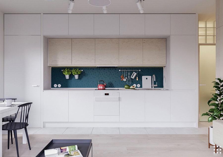 Modello di cucina lineare n.14