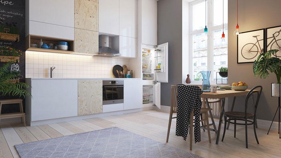 Modello di cucina lineare n.15