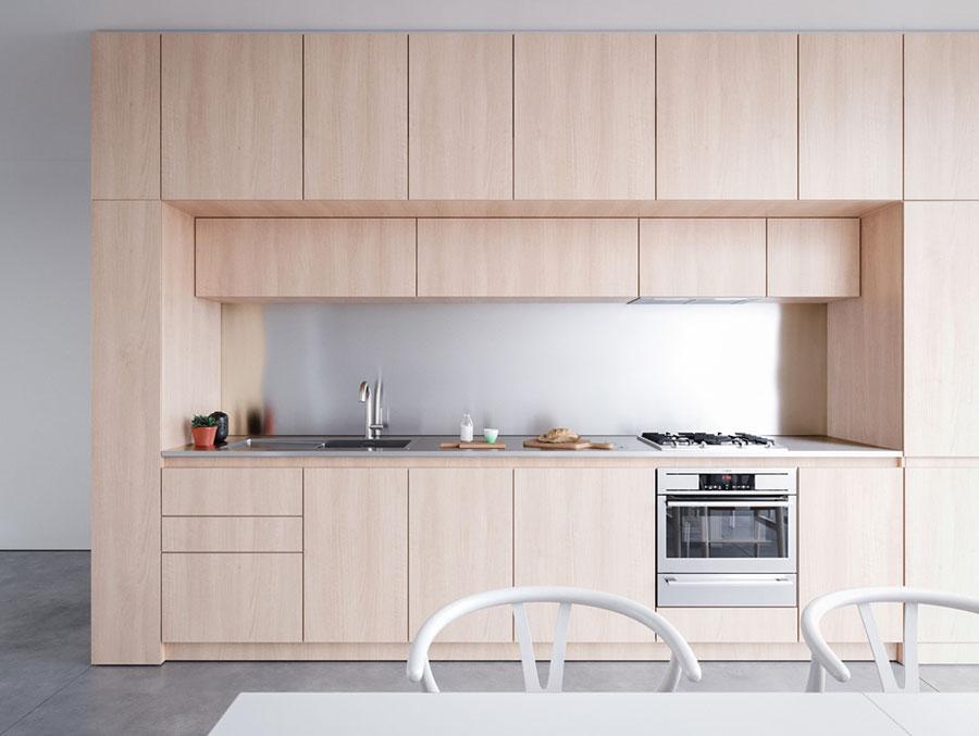 Modello di cucina lineare n.16
