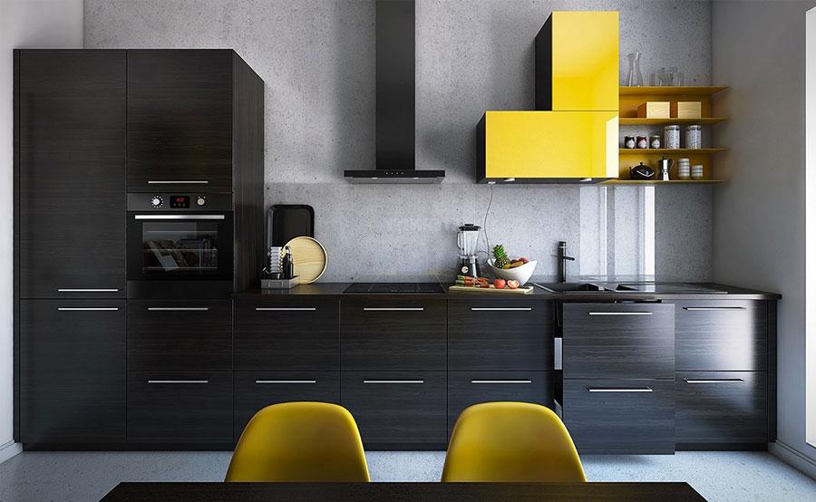 Pareti grigie per cucine moderne 01