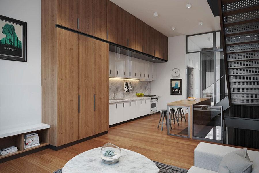 Modello di cucina lineare n.18