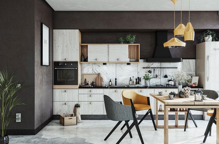 Modello di cucina lineare n.19