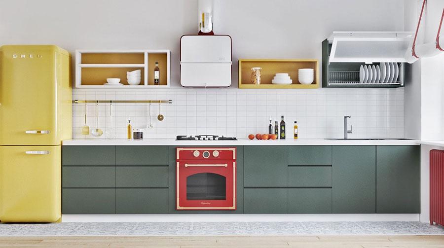 Modello di cucina lineare n.20
