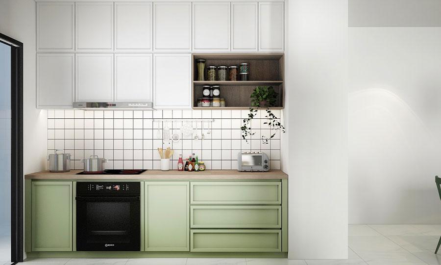 Modello di cucina lineare n.22