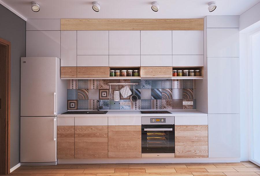 Modello di cucina lineare n.23