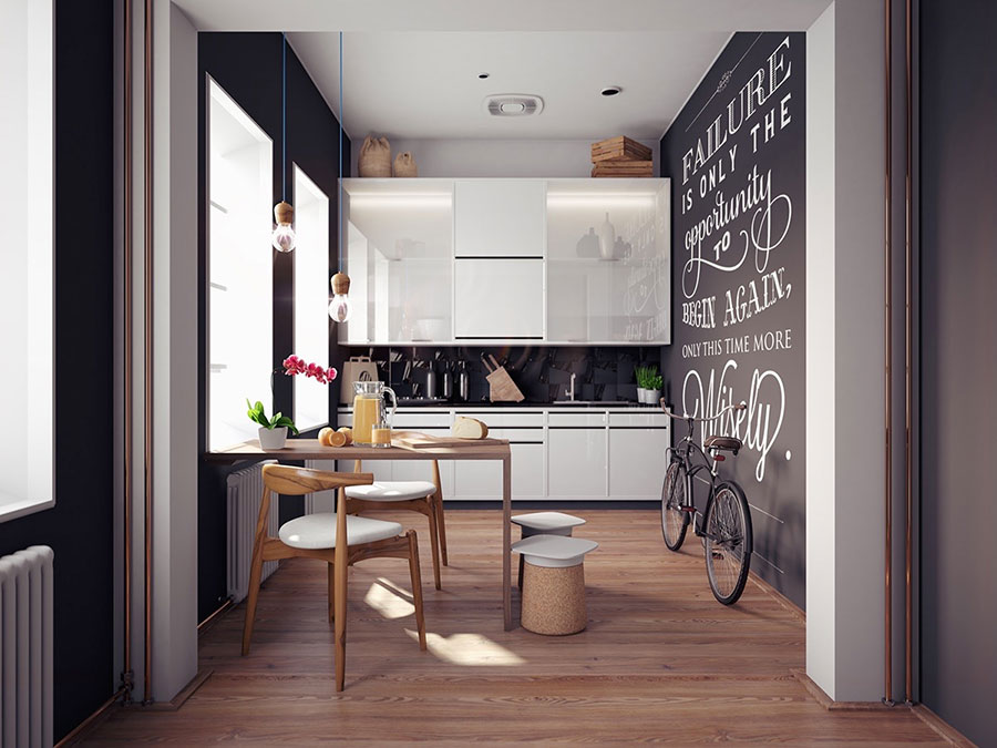 Parete Di Lavagna In Cucina : Parete cucina verde elegant modello immagina neck di cucine lube