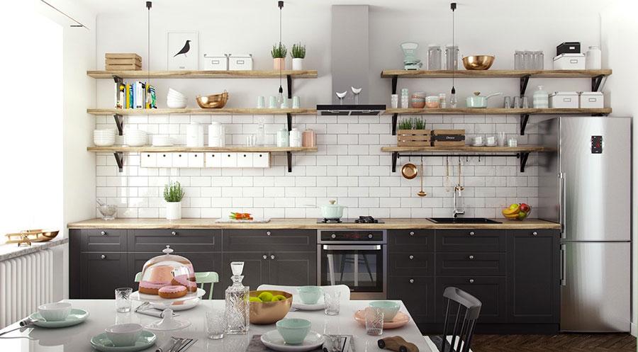 Modello di cucina lineare n.27