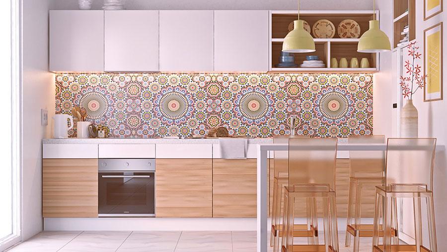 Modello di cucina lineare n.28