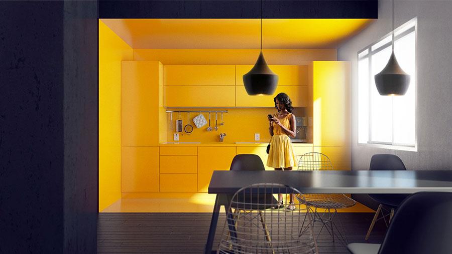 Modello di cucina lineare n.31