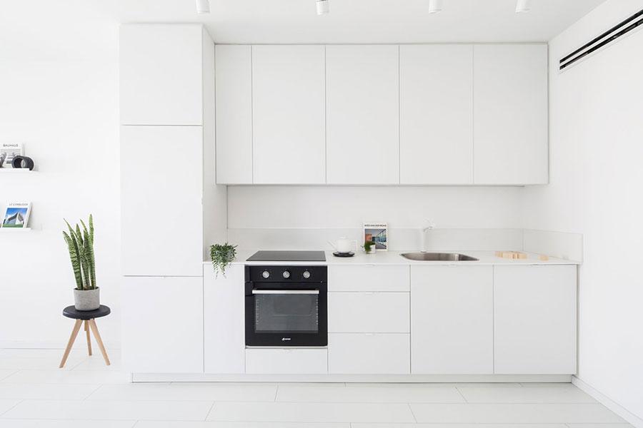 Pareti bianche per cucine moderne 04