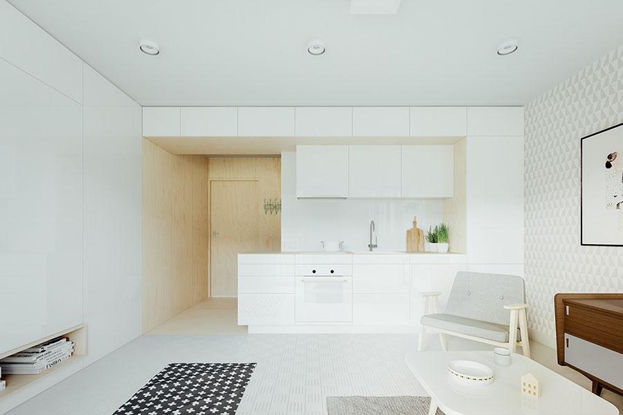 Modello di cucina lineare n.34