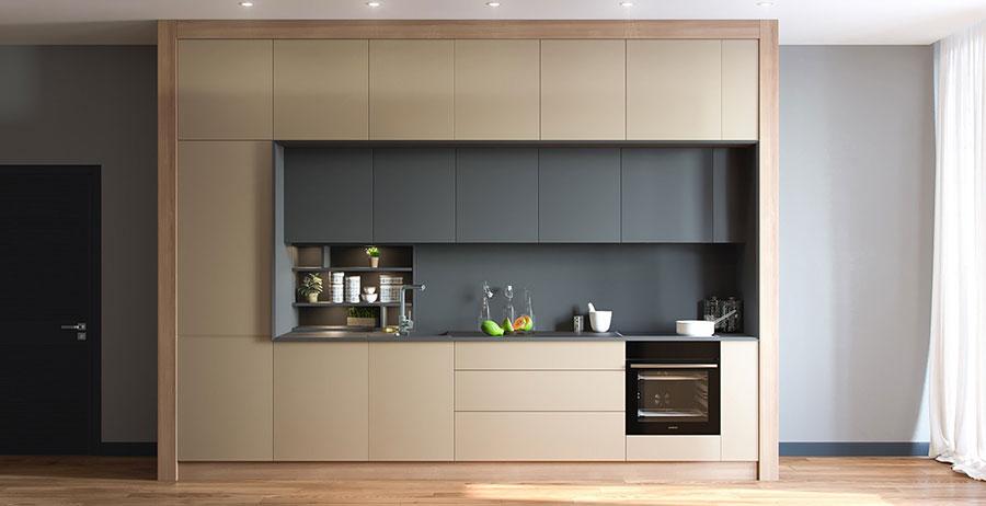Modello di cucina lineare n.36