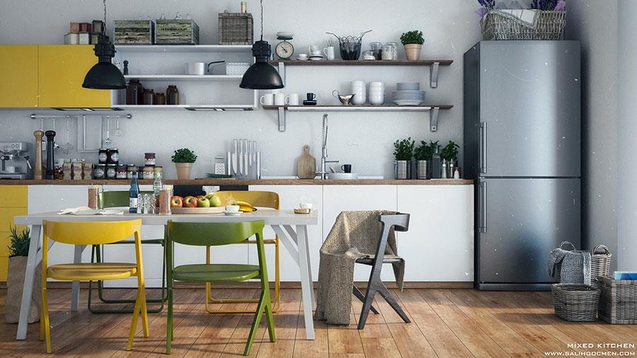 Modello di cucina lineare n.37