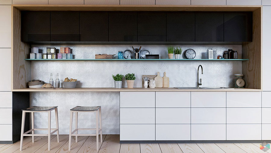 Modello di cucina lineare n.40