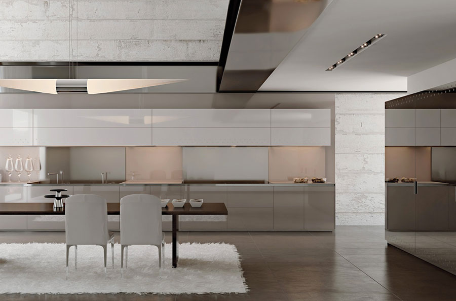 Modello di cucina lineare n.42
