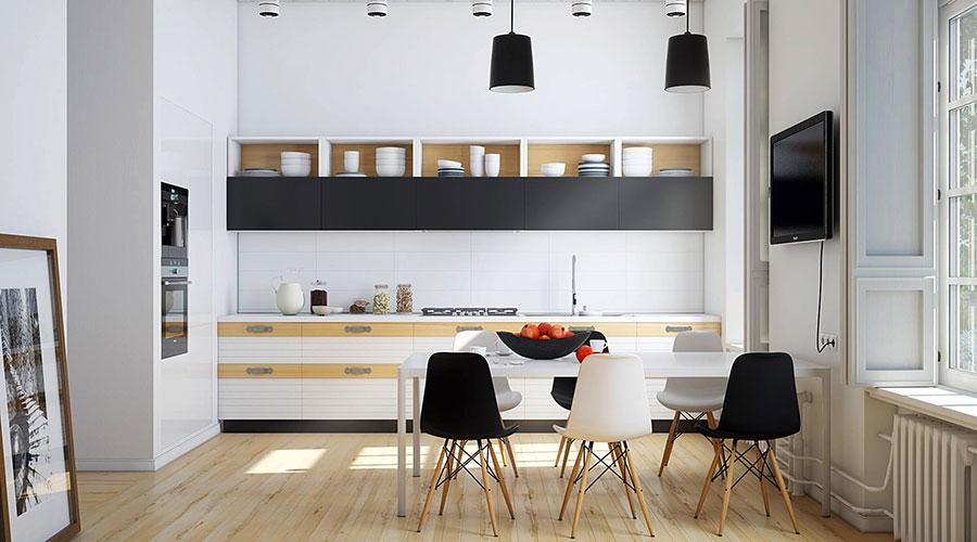 Modello di cucina lineare n.45
