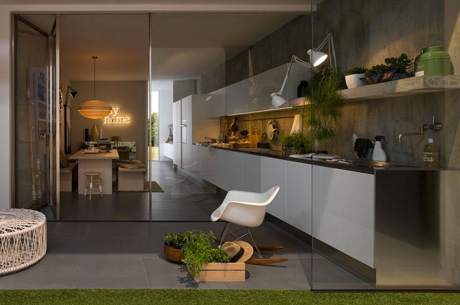 Modello di cucina lineare n.49