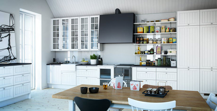 Modello di cucina lineare n.50