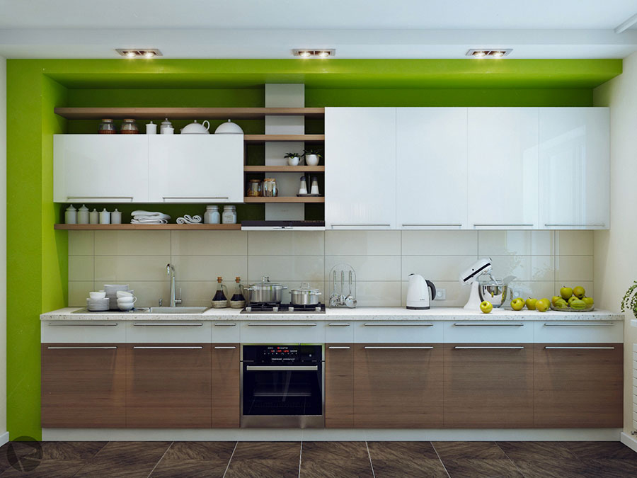 Modello di cucina lineare n.51