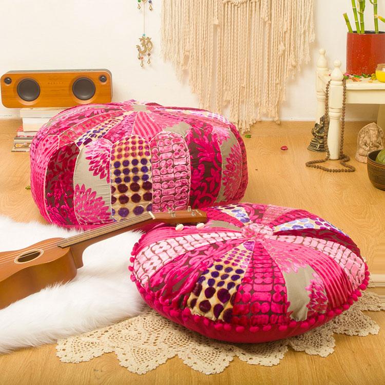Modello di cuscino boho chic n.04