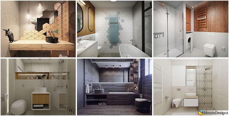 Bagno piccolo moderno ecco 25 progetti di design for Idee arredo bagno piccolo