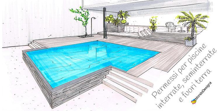 Permessi per costruire piscine interrate seminterrate e - Piscina interrata permessi ...