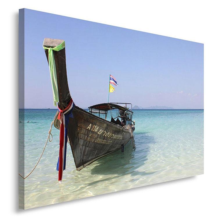 Modello di quadra per casa mare con barche n.01