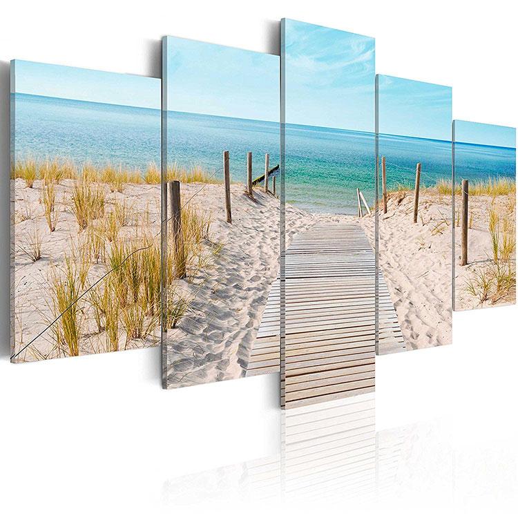 Modello di quadra per casa mare con paesaggio marino n.01