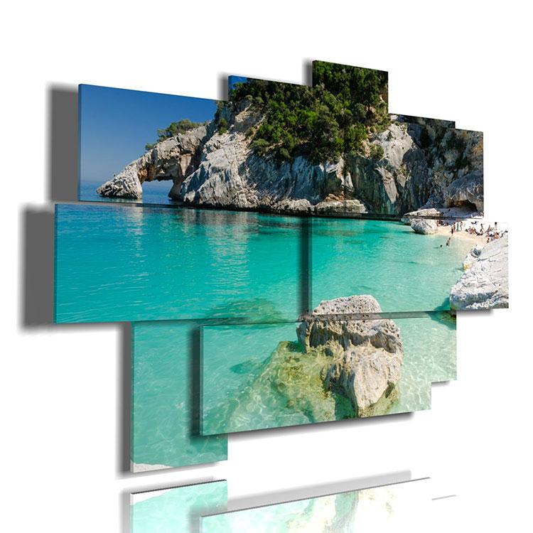 Modello di quadra per casa mare con paesaggio marino n.04
