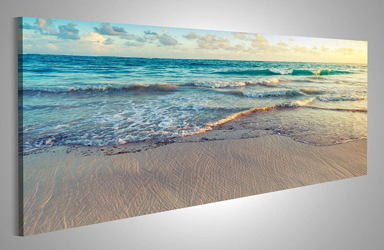 Modello di quadra per casa mare con paesaggio marino n.05