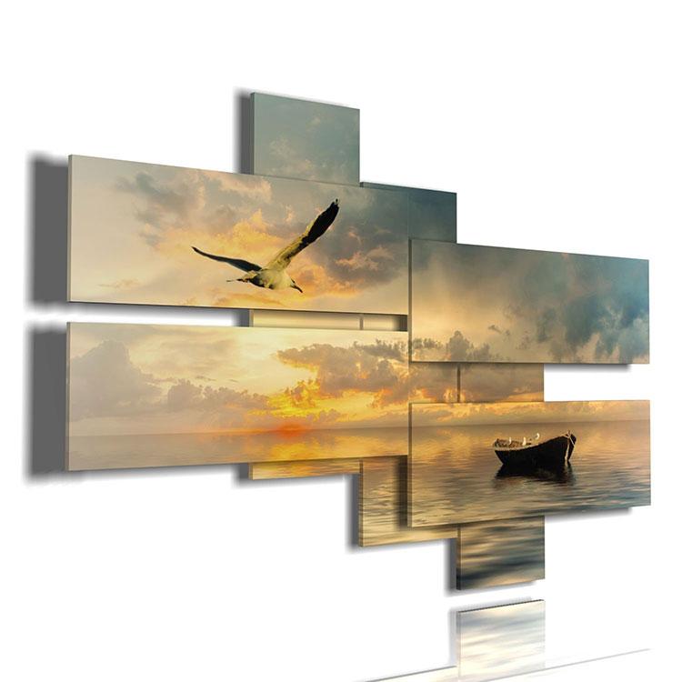 Modello di quadra per casa mare con paesaggio marino n.10