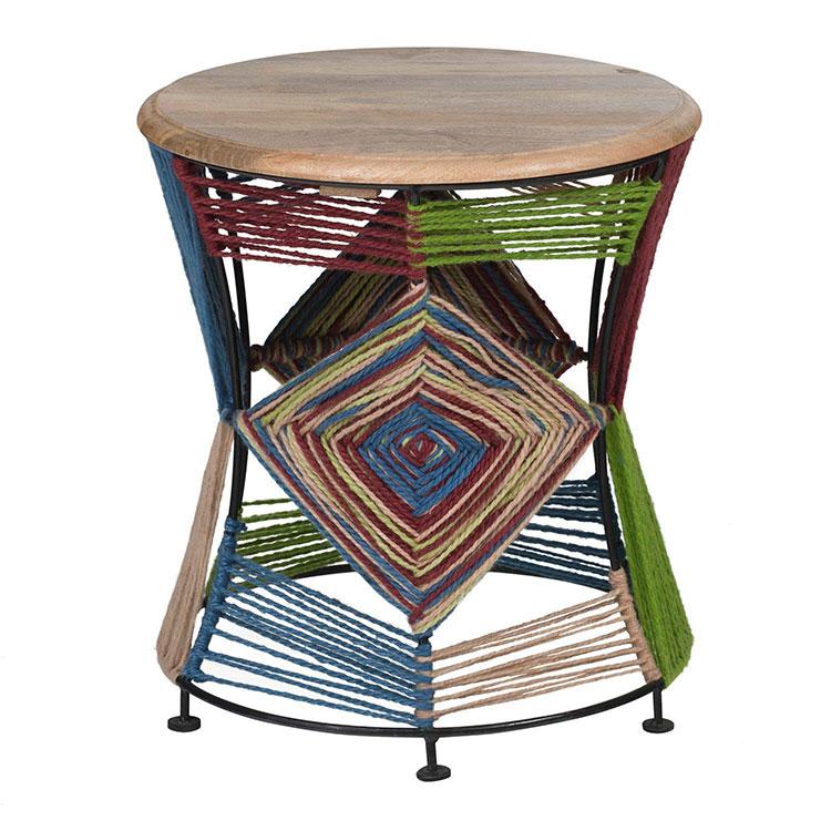 Modello di tavolino boho chic n.02