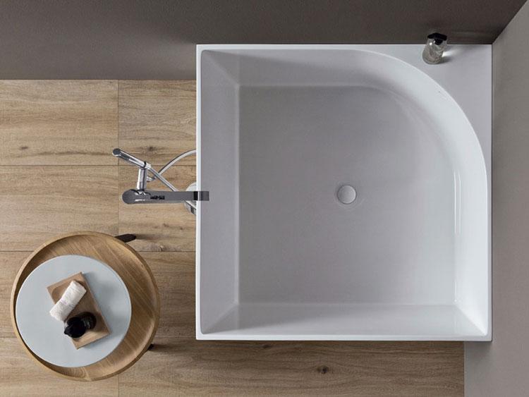 Modello di vasca da bagno quadrata da appoggio n.04