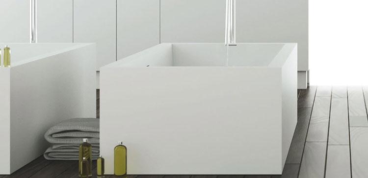 Modello di vasca da bagno quadrata da appoggio n.05