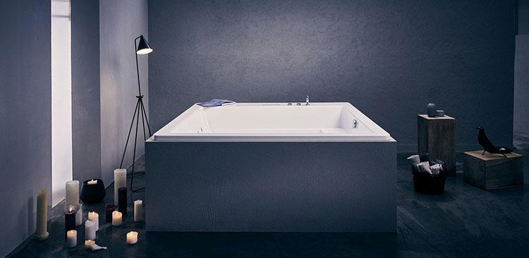 Modello di vasca da bagno quadrata da appoggio n.06