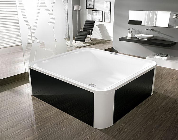 Modello di vasca da bagno quadrata da appoggio n.07