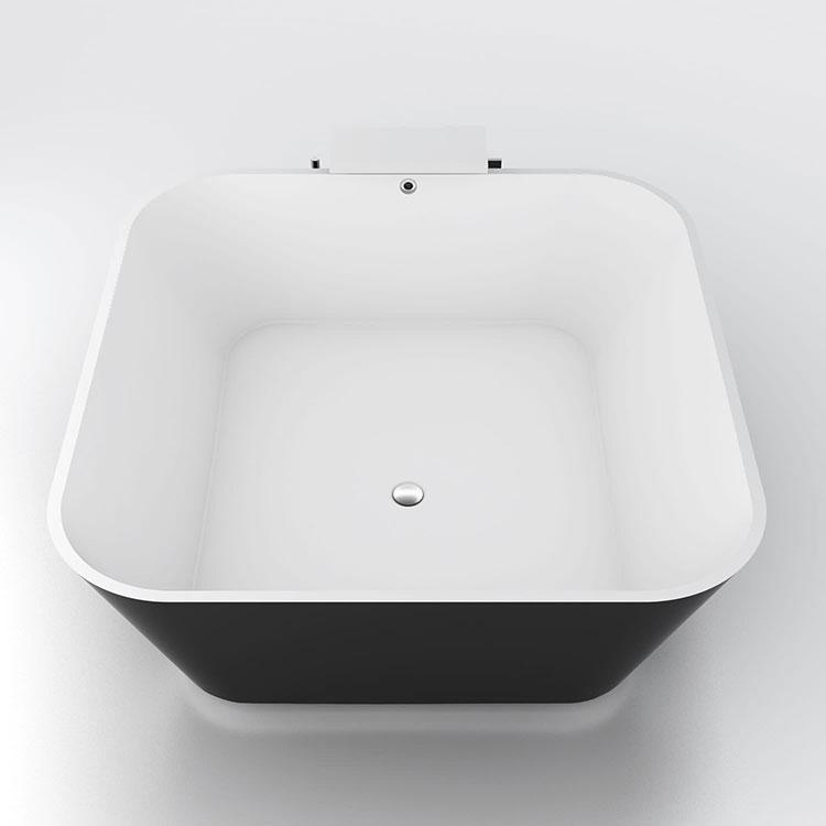 Modello di vasca da bagno quadrata da appoggio n.08