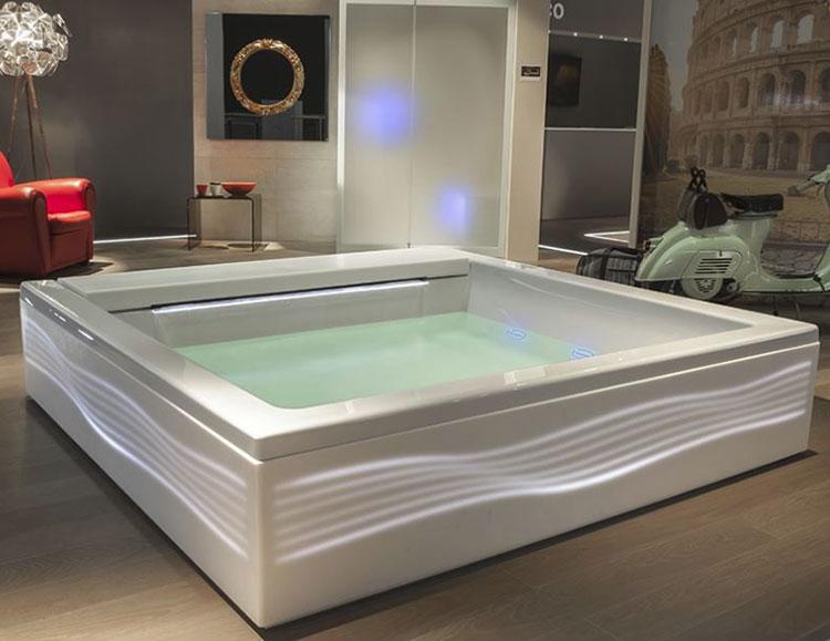 Modello di vasca da bagno quadrata da appoggio n.09