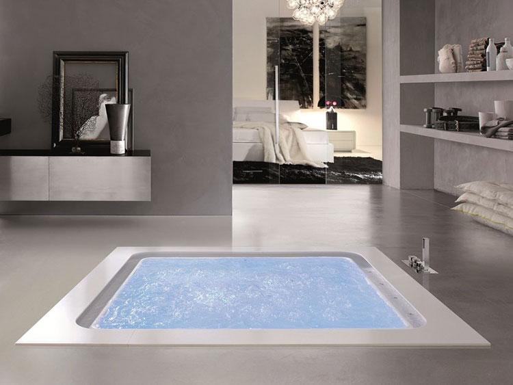 Vasca Da Bagno Da Incasso : Vasca da bagno quadrata modelli da appoggio e da incasso