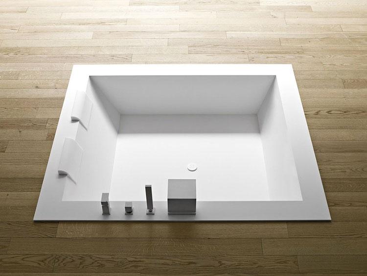 Modello di vasca da bagno quadrata da incasso n.03